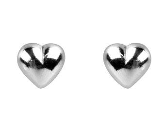 Tiny Heart Earrings, Heart Studs, Heart Stud Earrings, Silver Heart Earrings, Tiny Earrings, Heart Jewellery