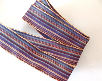TAPE x 1 m SATIN stripes purple Burgundy veil ref. 78