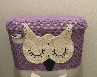 Sleepy Owl Tank cover pattern/ not a finished item/ no refund