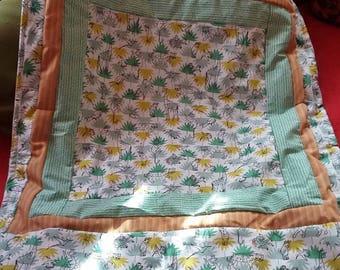 """JUNGLE"" patchwork baby blanket"