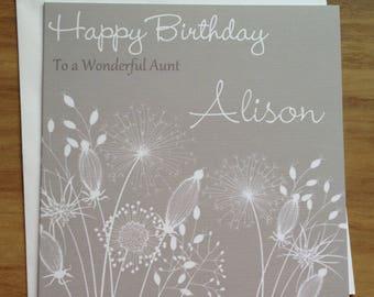 Handmade Personalised Birthday Card Granddaughter , Wife , Friend , Daughter ,Aunt