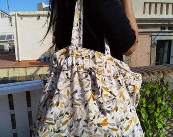 Tote bag, Summer bag, fabric bag, stamped bag, tote bag, casual bag
