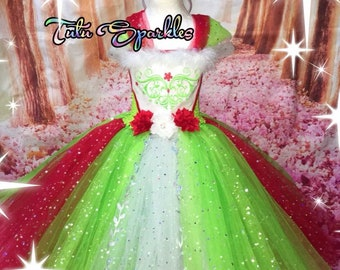 Christmas princess tutu dress