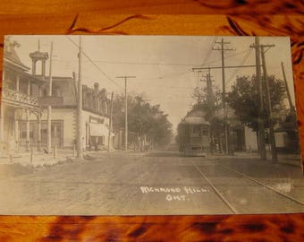 Richmond Hill Ontario Herington & Son Real Photo Postcard rppc Ont Early 1900s