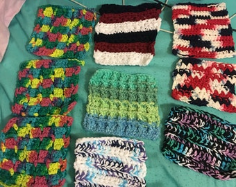 Hand crochet dish clothes