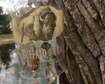Buffalo Trace Kentucky Straight Bourbon Whiskey Bottle Wind Chime - - Whiskey Bottle Wind Chime - Buffalo Trace Wind Chime- Bar Decor