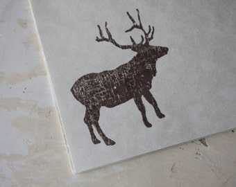 Deer Writing Paper, Stamped Stationery, Letter Writing Set, Deer Stamp, Deer Gift, Deer Stationery, Elk Paper, Woodland Paper, Woodland Gift