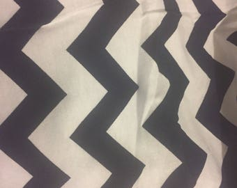 Navy and White Chevron Print, Knit Fabric, Chevron fabric, Colorful Knit Fabric, Stretchy Knit Fabric, four plus yards