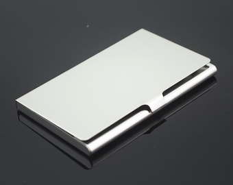 Metal card holder etsy stainless steel business card holder metal card case business card case blank card colourmoves Images