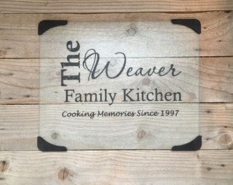 Glass Cutting Board, Personalized Gifts, Monogrammed Gifts, Wedding Gifts, Anniversary Gifts, Custom Glass Cutting Board, Shower Gifts,
