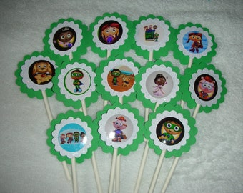 Super Why Cupcake Toppers