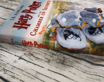Harry Potter Baby Booties   Harry Potter Shoes   Baby Shoes   Harry Potter Gift   Gryffindor   Baby Gift   Baby Shower Gift   Coming Home