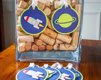 Space Birthday Favor Tags