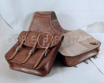 Double Leather Saddlebag