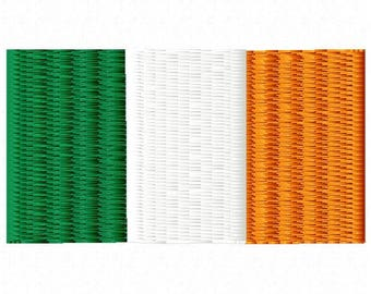 Irish Flag Embroidery Design - Instant Download