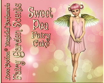 Fairy Cake: Sweet Pea - Sweet & Youthful Layerable Perfume - Love Potion Magickal Perfumerie