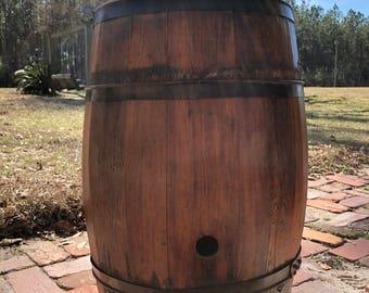 Antique wine barrel , wood barrel, wooden keg, side table, barrel,shabby chic decor,  rustic , wedding decor,interior design