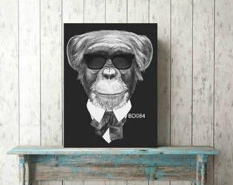 monkey print,monkey mafia print,digital monkey print,lion print,beroom prints