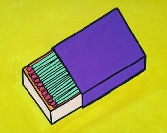 Pop Art Match Box Painting