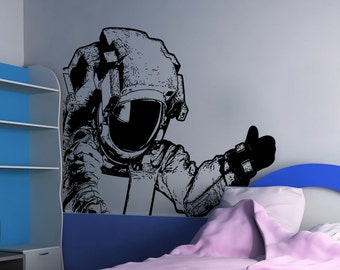 Vinyl Wall Art Decal Sticker Corner Astronaut 5485m