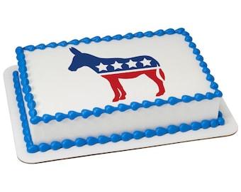 Political Donkey Edible Cake Topper