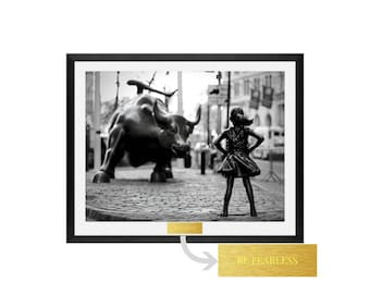 Fearless Girl, Woman right, feminist wall art, Feminism, Girl power, feminist print, Girl Power, Equality, Be Fearless, feminist art, poster