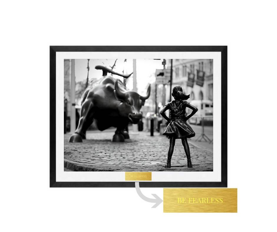 Fearless Girl, Fearless Girl Statue, feminist gift, Feminism, Girl power, feminist, Girl Power, Be Fearless, framed wall art prints