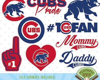 Chicago Cubs SVG files, baseball designs contains dxf, eps, svg, jpg, png and pdf files. PB-032