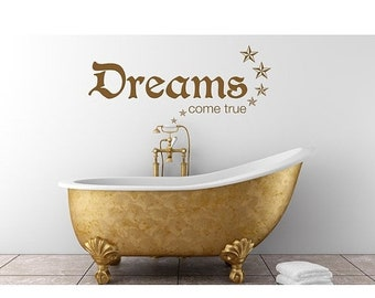 20% OFF Memorial Day Sale Dreams wall quote decal, sticker, mural, vinyl wall art saying