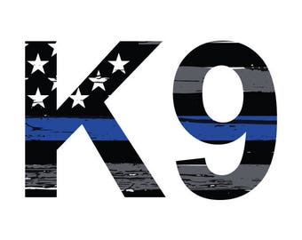 Thin Blue Line K9 Vehicle Decal.  Vinyl Decal.  Law Enforcement Sticker.  Police Decal. K9