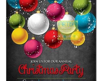 Christmas Party Invitation - Christmas Dinner Invitation - Holiday Party Invitation - Company Holiday Party - Company Christmas Party