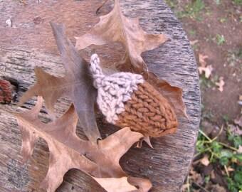 Autumn Acorn Knitting Pattern, Instant Digital Download, PDF