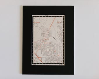 1950s map of Melbourne suburbs, Australia - North Sunshine, St Albans, Keilor, Albion, ready to frame, 6 x 8""