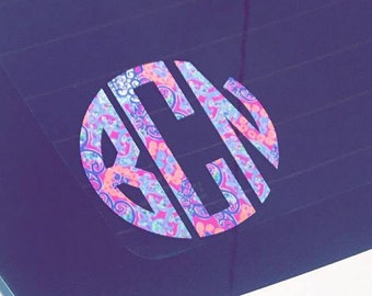 monogram decal, car decal, back to school, phone sticker, laptop decal, diy decals, phone skin, YETI decal, cup sticker