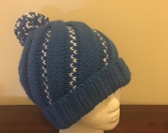 Chunky knit spiral hat