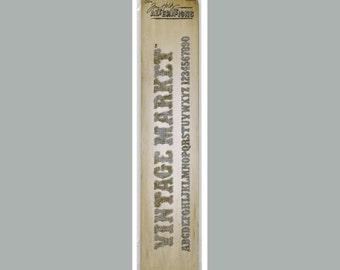 VINTAGE MARKET ALPHABET- Sizzix Sizzlits Decorative Strip Die By Tim Holtz