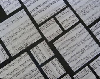ORIGAMI paper , genuine random music sheets MIXED PACK ,  40 sheets