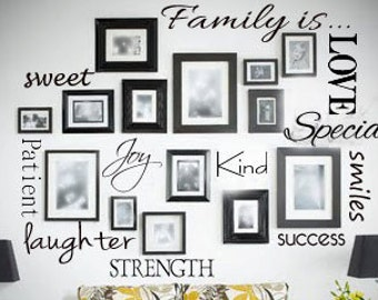 Family is.... Wall Decal