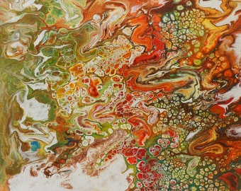 Abyss is made by AjAspinall AbstractArt created on canvas one-off original unique painting signed Certificate of Authenticity