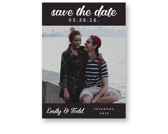Save The Date Card - Printable Save The Date - Save The Date With Picture - Photo Save The Date - Simple Save The Date -Custom Save The Date