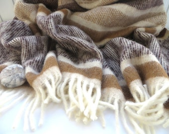 THROW BLANKET WOOL Soft Wool Blanket Gift for Mom 100% Lambswool Throw Cozy Home New Zealand Wool Fringe Throw Blanket Mother's Day Gift