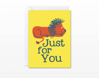Just For You Mini Card - Gift Enclosure Card - Red Lion - Everyday Just Because Card