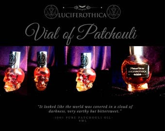 Patchouli Skull (100% Pure Patchouli | Non Diluted) - patchouli fragrance  lucifer occult boho gothic essence witch  india etnic parfume