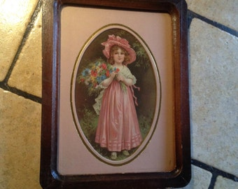 Victorian Maiden Framed Picture