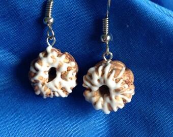 Tiny Iced Monkey Bread Dangle Earrings