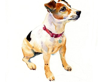 Custom Pet Portrait - Original Art - 11x14inches-Watercolor Painting - Art - Dogs
