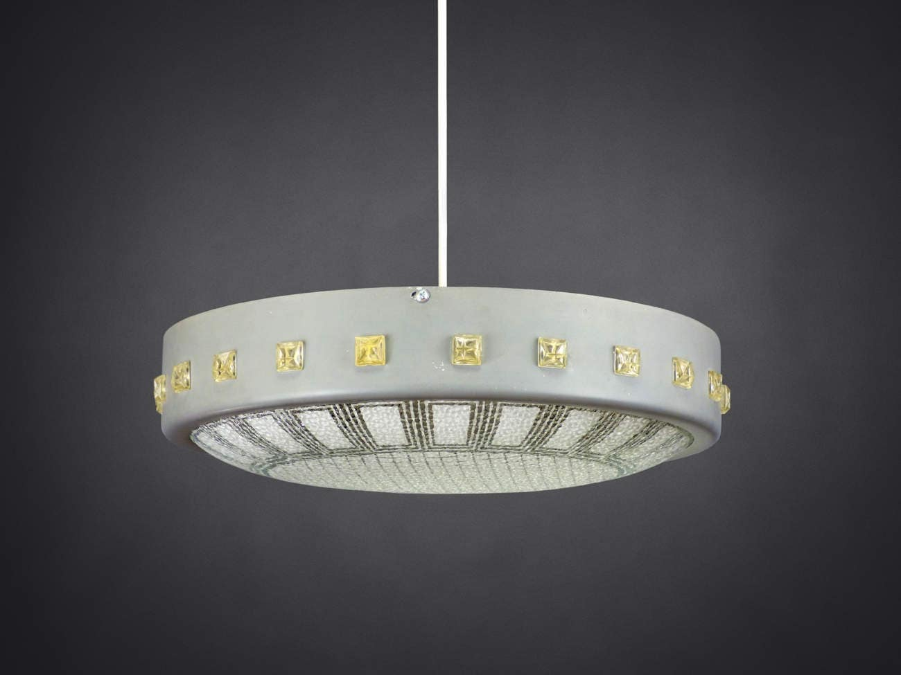Pendant ceiling lamp ufo flying saucer style made in germany zoom arubaitofo Gallery