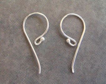 2 Bali Sterling Silver Silver Earwires With Ball - 22 x 11mm