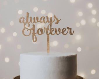 Always & Forever Wedding Cake Topper, Wedding Cake Topper, Cake Topper, Cake Topper Wedding, Always and Forever, wedding decor, weddings