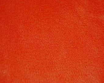 Minky Smooth Orange Fabric